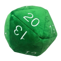 Ultra Pro D20 Novelty Oversized Plush - Green with White Numbers
