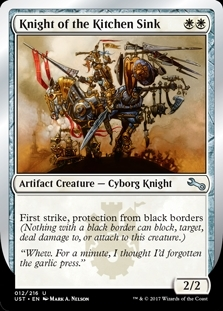 Knight of the Kitchen Sink (Black Border) - Unstable - Uncommon