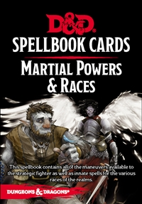 Dungeons & Dragons 5th Spellbook Cards: Martial Powers & Races
