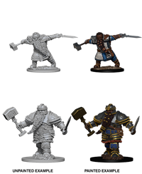 Dungeons & Dragons Nolzur's Marvelous Miniatures: Male Dwarf Barbarian
