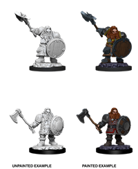 D&D Nolzur's Marvelous Miniatures: Dwarf Fighter Male
