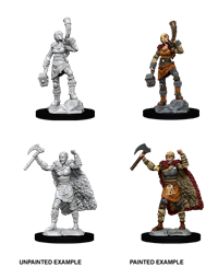 D&D Nolzur's Marvelous Miniatures: Human Barbarian Female