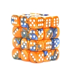Chessex 36D6 - 12mm Gemini Blue-Orange with White Pipps