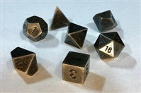 CHESSEX METAL 7-DIE SET DARK METAL