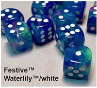 CHESSEX FESTIVE 7-DIE SET WATERLILY/WHITE