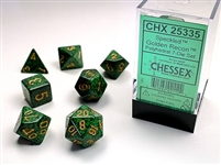 CHESSEX SPECKLED 7-DIE SET GOLDEN RECON