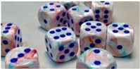 CHESSEX FESTIVE 7-DIE SET POP-ART/BLUE