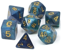 DIE HARD DICE POLY RPG SET - ENCHANTED LAGOON