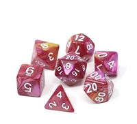 DIE HARD DICE POLY RPG SET - CURSED ROSE