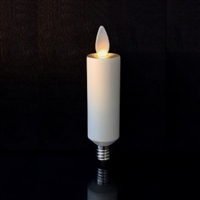 "LightLi by Liown Moving Flame - Flameless LED Candle Chandelier Bulb - E12 Base - Ivory - 1.0"" x 4.1"""
