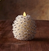 Luminara - Flameless LED Candles - Pine Cone Shape - 3.25-Inch x 4-Inch - Ivory Wax - Remote Ready