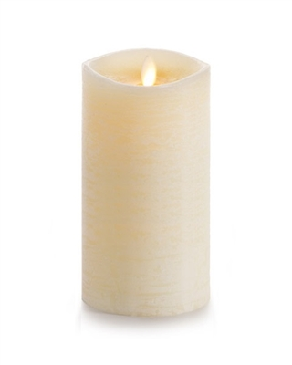 "Luminara - Flameless LED Candle - Rustic Finish - Vanilla Scented Ivory Wax - Remote Ready - 3.5"" x 7"""