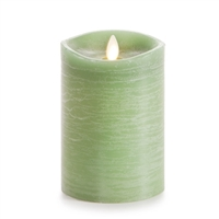 "Luminara - Flameless LED Candle - Rustic Finish - Vanilla Scented Harvest Sage Wax - Remote Ready - 3.5"" x 5"""