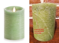 "SCRATCH & DENT SPECIAL! - Luminara - Flameless LED Candle - Rustic Finish - Vanilla Scented Harvest Sage Wax - Remote Ready - 3.5"" x 5"""
