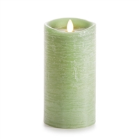 "Luminara - Flameless LED Candle - Rustic Finish - Vanilla Scented Harvest Sage Wax - Remote Ready - 3.5"" x 7"""