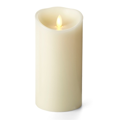 "Luminara - Flameless LED Candle - Indoor - Unscented Ivory Wax - Remote Ready - 3.5"" x 7"""