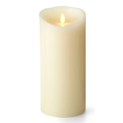 "Luminara - Flameless LED Candle - Indoor - Unscented Ivory Wax - Remote Ready - 4"" x 9"""