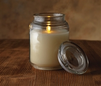 "Luminara - Flameless LED Candle - Glass Mason Jar With Lid - Ivory Wax - Vanilla Scented - Remote Ready - 3.5"" x 5.5"""