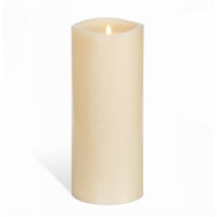 "Luminara - Flameless LED Candle - 360-Degree Large Indoor Pillar - Unscented Ivory Wax - Remote Ready - 6"" x 14"""