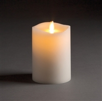 "LightLi by Liown - Moving Flame - Flameless LED Candle - Indoor - Ivory Paraffin Wax - Remote Ready - 3"" x 4.5"""