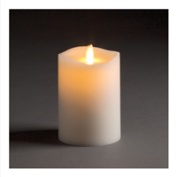 "LightLi by Liown - Moving Flame - Flameless LED Candle - Indoor - Ivory Paraffin Wax - Remote Ready - 3.5"" x 5"""