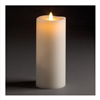 "LightLi by Liown - Moving Flame - Flameless LED Candle - Indoor - Ivory Paraffin Wax - Remote Ready - 3.5"" x 8.5"""