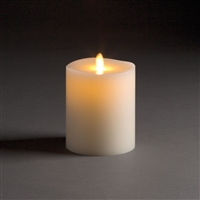 "LightLi by Liown - Moving Flame - Flameless LED Candle - Ivory Wax - Remote Ready - 4"" x 5"""