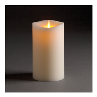 "LightLi by Liown - Moving Flame - Flameless LED Candle - Indoor - Ivory Paraffin Wax - Remote Ready - 4"" x 7"""