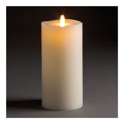 "LightLi by Liown - Moving Flame - Flameless LED Candle - Indoor - Ivory Paraffin Wax - Remote Ready - 4"" x 8.5"""