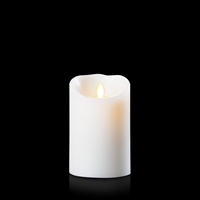 "Luminara - Flameless LED Candle - Indoor - Unscented White Wax - Remote Ready - 3.5"" x 5"""