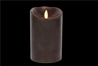 "Luminara - Flameless LED Candle - Indoor - Wax - Dark Brown - Remote Ready - 3.5"" x 5"""