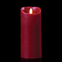 "Luminara - Flameless LED Candle - Indoor - Wax - Burgundy - Remote Ready - 4"" x 9"""