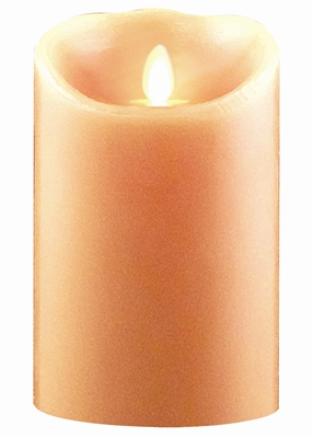 "Luminara - Flameless LED Candle - Indoor - Wax - Peach - Remote Ready - 3.5"" x 5"""