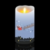 "Luminara - philoSophie's Series - ""Holiday"" - Flameless LED Candle - Indoor - Unscented Wax - 3.5"" x 7"""