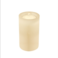 "AquaFlame - Flameless LED Candle Fountain - Indoor - Wax - Ivory - 5"" x 8.5"""