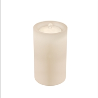 "AquaFlame - Flameless LED Candle Fountain - Indoor - Wax - White - 5"" x 8.5"""