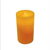 "AquaFlame - Flameless LED Candle Fountain - Indoor - Wax - Amber - 5"" x 8.5"""