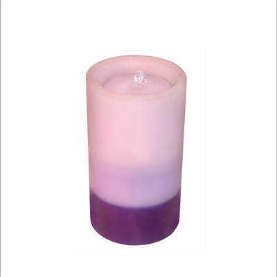 "AquaFlame - Flameless LED Candle Fountain - Indoor - Wax - Graduated Purple - 5"" x 8.5"""