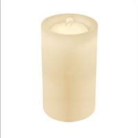 "AquaFlame - Flameless LED Candle Fountain - Indoor - Wax - Ivory - 5"" x 10"""
