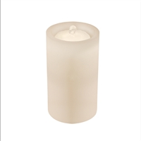 "AquaFlame - Flameless LED Candle Fountain - Indoor - Wax - White - 5"" x 10"""