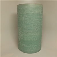 "AquaFlame - Flameless LED Candle Fountain - Indoor - Blue Fresco Textured Wax Finish - 5"" x 8.5"""
