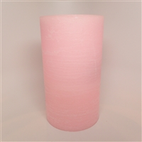 "AquaFlame - Flameless LED Candle Fountain - Indoor - Pink Fresco Textured Wax Finish - 5"" x 8.5"""
