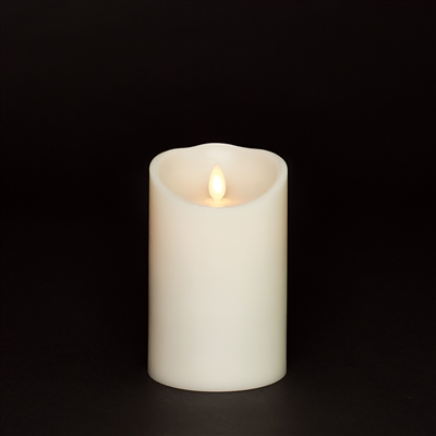 "Torchier Moving Flame - Flameless LED Candle - Indoor - Wax - Ivory - Remote Ready - 3.5"" x 5"""