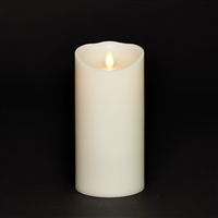 "Torchier Moving Flame - Flameless LED Candle - Indoor - Wax - Ivory - Remote Ready - 3.5"" x 7"""
