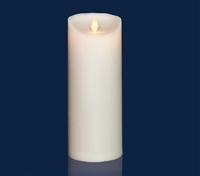 "Torchier Moving Flame - Flameless LED Candle - Outdoor - ABS Plastic - Ivory - Remote Ready - 3.5"" x 9"""