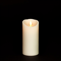 "Torchier Moving Flame - Flameless LED Candle - Indoor - Wax - Ivory - Remote Ready - 3"" x 6"""