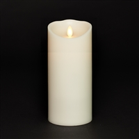 "Torchier Moving Flame - Flameless LED Candle - Indoor - Wax - Ivory - Remote Ready - 3.5"" x 9"""