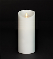 "Torchier Moving Flame - Flameless LED Candle - Indoor - Unscented White Wax - Remote Ready - 3.5"" x 9"""