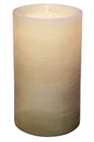 "AquaFlame - Flameless LED Candle Fountain - Indoor - Ivory Fresco Textured Wax Finish - 5"" x 8.5"""