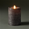 "LightLi by Liown - Moving Flame - Flameless LED Candle - Linen Charcoal Wax - Bluetooth App Ready - Remote Ready - 3.5"" x 5"""